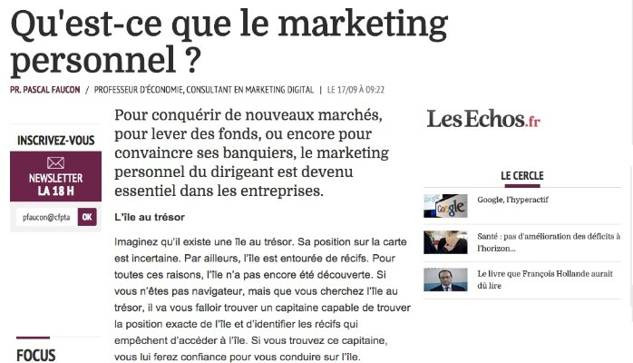 Pascal Faucon_Les_ECHOS_Marketing_personnel